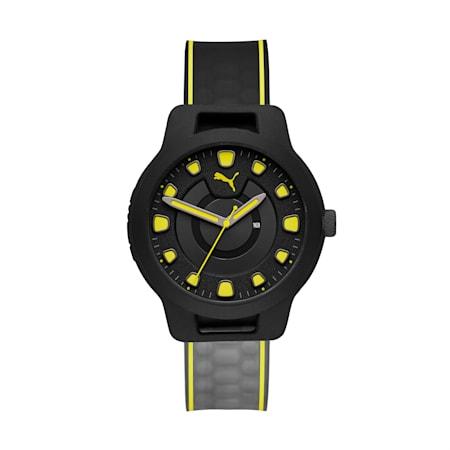 Męski zegarek RESET V1 Gradient na silikonowym pasku, Black/Yellow, small