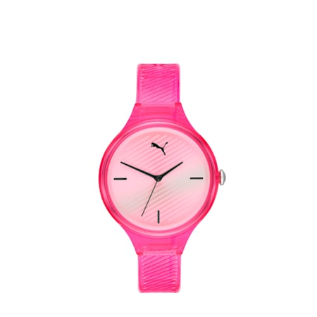 CONTOUR Ultra-Slim Damen Uhr, Pink/Multi, small