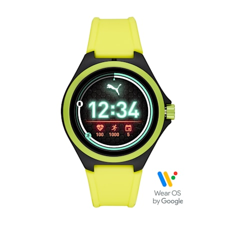 PUMA Smartwatch, Yellow/Black, small