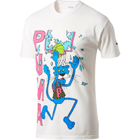 PUMA x CHINATOWN MARKET Summertime Smash Tee, White, small