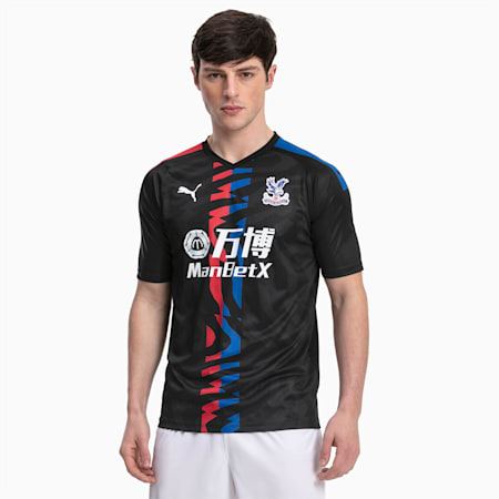 Crystal Palace Men's Away Replica Jersey, Puma Black-Red-Blue, small