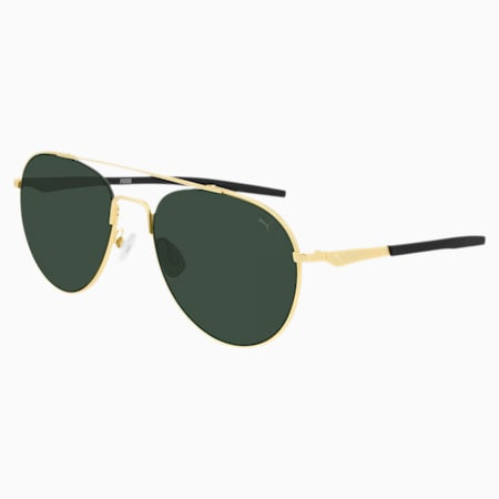 Sonnenbrille, GOLD-GOLD-GREEN, small