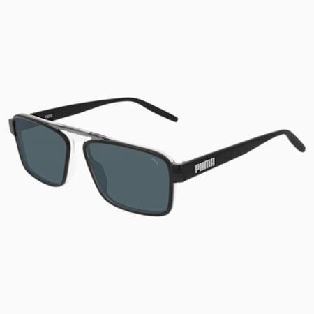 Flex your Look Men's Sunglasses, GREY-BLACK-SMOKE, small