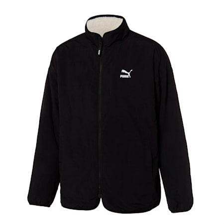 클래식 리버시블 쉐르파 자켓/Classics Reversible Fleece J, whisper white-puma black, small-KOR