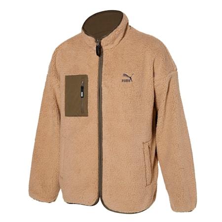 클래식 리버시블 쉐르파 자켓/Classics Reversible Fleece J, pale khaki-covert green, small-KOR