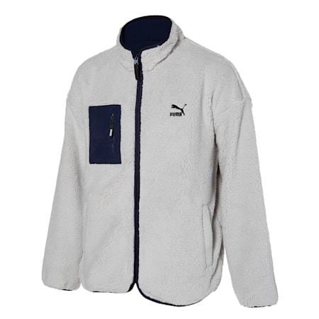 클래식 리버시블 쉐르파 자켓/Classics Reversible Fleece J, gray violet-peacoat, small-KOR