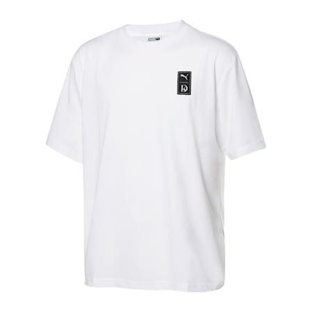 큐브 숏 슬리브 반팔 티셔츠/Cube SS Tee, puma white, small-KOR