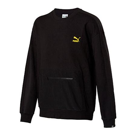 라이더 우븐 포켓 크루, puma black, small-KOR