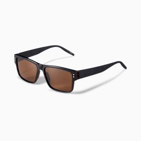 Rubber-Eyes Men's Sunglasses, BLACK-BLACK-SMOKE, small