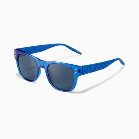 Rubber-Eyes Men's Sunglasses, BLUE-BLUE-BLUE, small