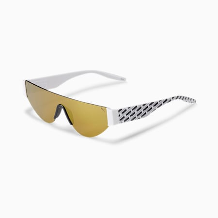 Shine Bright Women's Sunglasses, WHITE-WHITE-GOLD, small