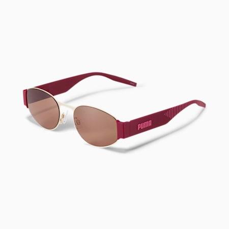 HAWKINS Women's Sunglasses, GOLD-BURGUNDY-BROWN, small