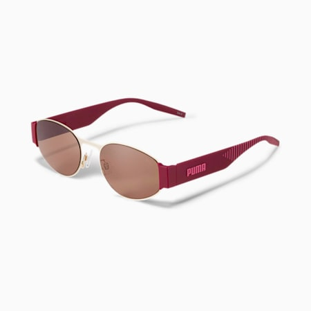 Hawkins Sunglasses, GOLD-BURGUNDY-BROWN, small