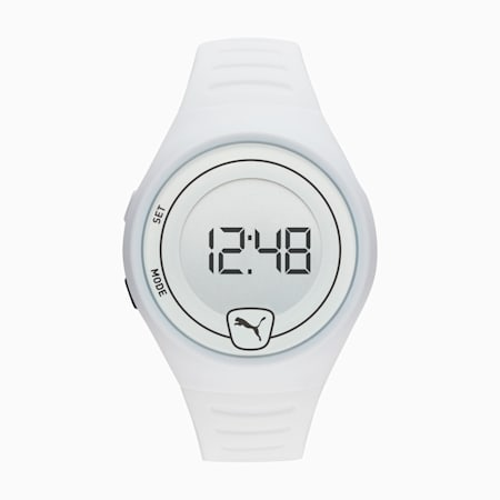 Forever Faster White Digital Watch, White/White, small