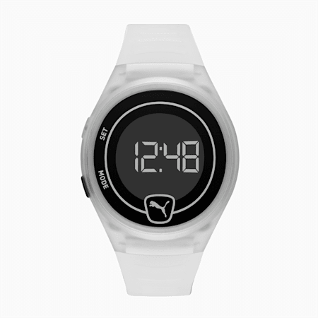 Forever Faster Clear Digital Watch, Transparent/Black, small