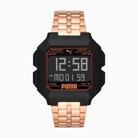 Montre REMIX Unisex en acier inoxydable, Rose Gold/Black, small