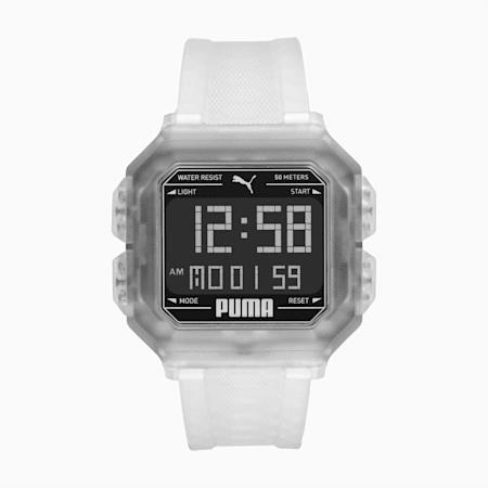 REMIX Unisex Uhr, Transparent/Black, small