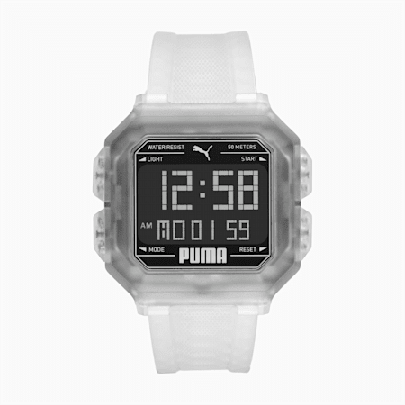 Remix Clear Digital Watch, Transparent/Black, small