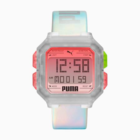Remix Multi Iridescent Digital Watch, Multi/Transparent, small