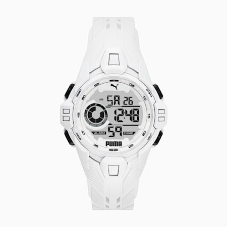 BOLD DIGITAL Herren Uhr, White/White, small