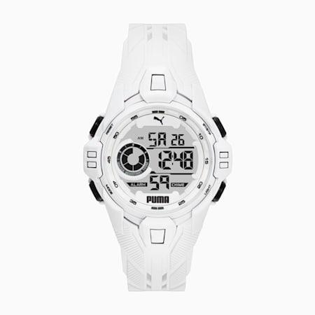 Bold White Digital Watch, White/White, small