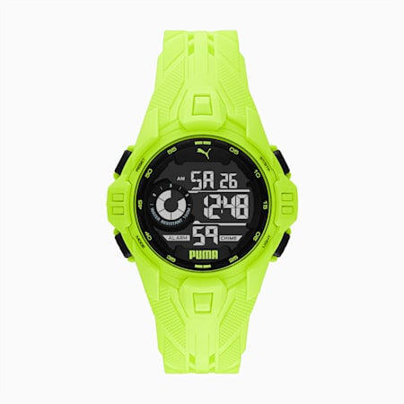 Bold Yellow Digital Watch, Fizzy Yellow/ Black, small