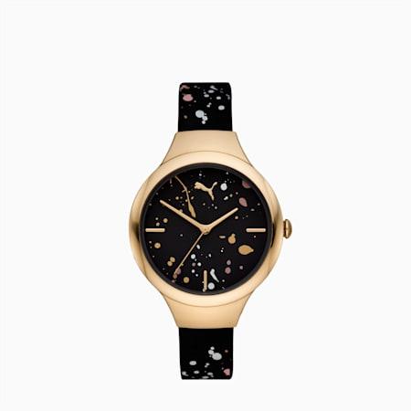 ウィメンズ コンツアー ブラック ゴールド スプラッシュ 時計, Black Multi/Gold, small-JPN