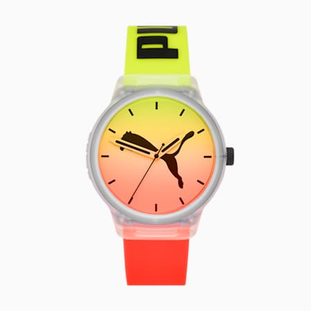 Reset v2 Red Clear Yellow Watch, Clear/Multi, small