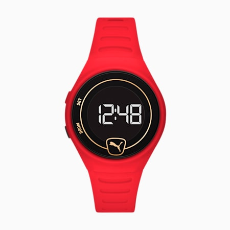Forever Faster WH Red Digital Watch, Red/Red, small