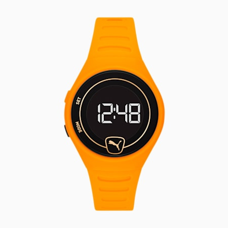 Special Edition Forever Faster Polyurethane Unisex Watch, Yellow/Yellow, small