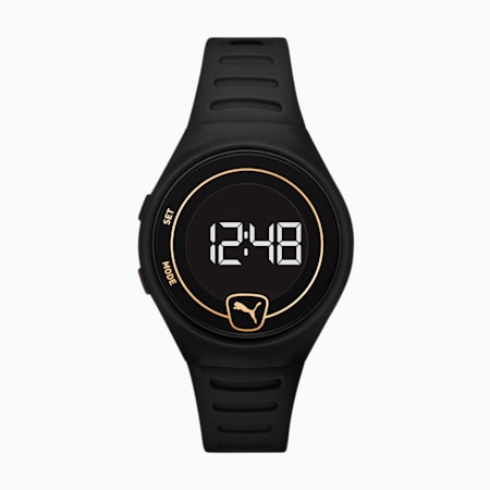 Forever Faster WH Black Digital Watch, Black/Black, small