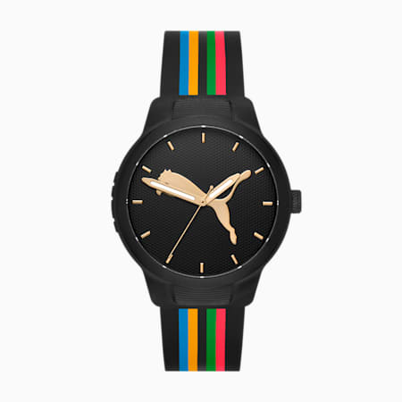 Special Edition Reset Silicone Unisex Watch, Black/Multi, small