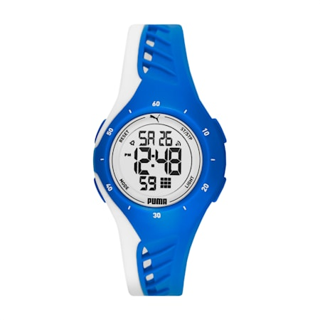 Reloj digitalPUMA3, Azul/Blanco, pequeño