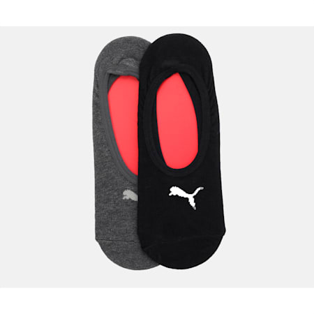 PUMA Footie Women's Socks Pack of 2, Black/ antracite, small-IND