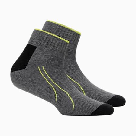 PUMA Performance Train Unisex Quarter Socks Pack of 2, grey melange, small-IND