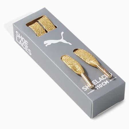 PUMA Laces with Metallic Tips, Metallic Gold, small-SEA