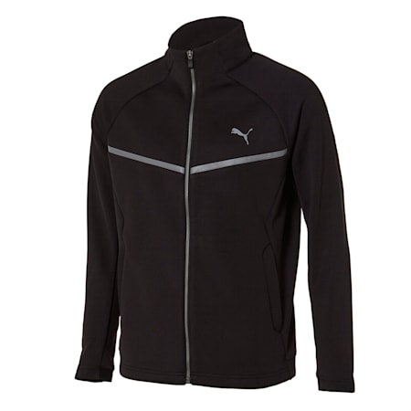니트 기모 트레이닝 자켓/Knit Suit_JKT, puma black, small-KOR