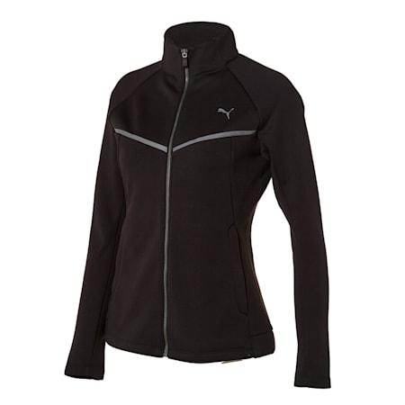 니트 기모 트레이닝 자켓/Knit Suit_JKT W, puma black, small-KOR