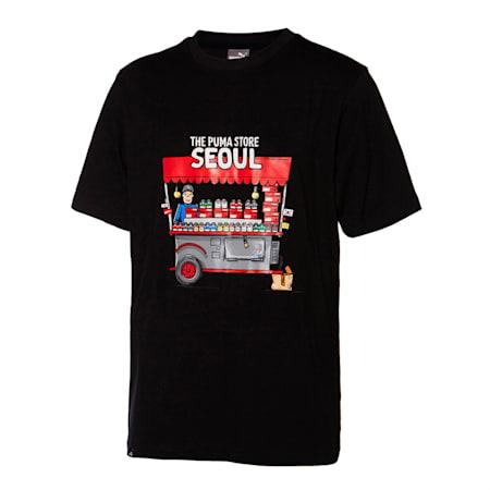 서울 시티 그래픽 티, puma black, small-KOR