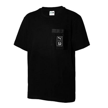 큐브 포켓 SS 반팔 티셔츠/Cube Pocket SS Tee, puma black, small-KOR