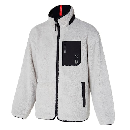 U&I 쉐르파 리버시블 자켓/U&I Sherpa reversible Jacket, puma black-grey violet, small-KOR
