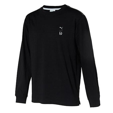 U&I 긴팔 티셔츠, puma black, small-KOR