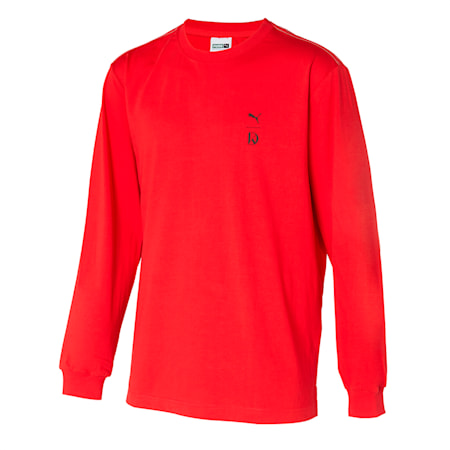U&I 긴팔 티셔츠, high risk red, small-KOR