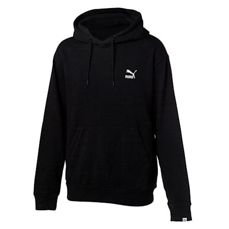 클래식 로고 후드 티/Classics Emb Logo Hoody, puma black, small-KOR