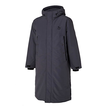 넌 퀼티드 롱 다운 자켓/Non-quilted Long Down Jacket, ultra grey, small-KOR