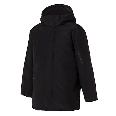 넌 퀼티드 미드 다운 자켓/Non-quilted Mid Down Jacket, puma black, small-KOR