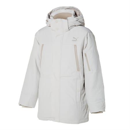 넌 퀼티드 미드 다운 자켓/Non-quilted Mid Down Jacket, vaporous grey, small-KOR