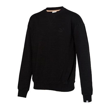 클래식 로고 기모 크루, puma black, small-KOR