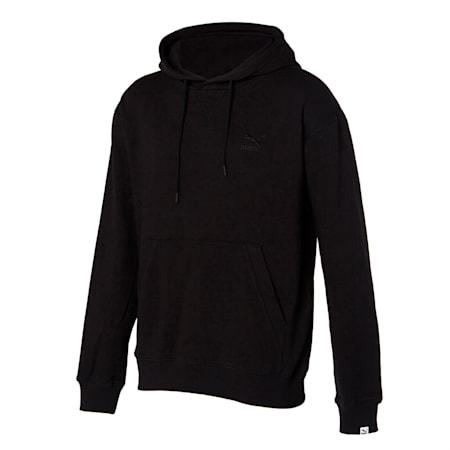 클래식 로고 기모 후드 티/Classics Emb Logo Hoody FL, puma black, small-KOR