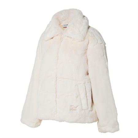 데바 에코 퍼 자켓/DEVA Faux Fur Jacket, whisper white, small-KOR